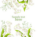 Frame With Lilies Of The Valley Royalty Free Stock Image - 18760346