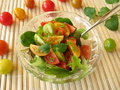 Salad With Colored Tomatoes Royalty Free Stock Image - 18764886