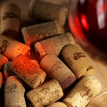 Wine Corks With Wine Reflex Stock Images - 18775444
