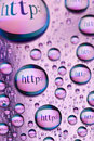 Water Drops And Words Royalty Free Stock Photo - 18780735