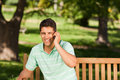 Young Handsome Man Phoning Stock Photo - 18815620