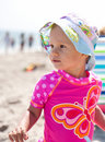 Baby Girl On The Beach Royalty Free Stock Photos - 18822218