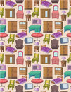 Seamless Furniture Pattern Stock Images - 18845114