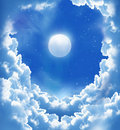 Fantastic Moon And Beautiful Clouds Royalty Free Stock Photography - 18861407