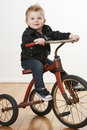 Toddler On Vintage Tricycle Royalty Free Stock Image - 18862436
