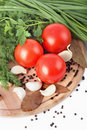 Raw Vegetables On Cutting Board Stock Photo - 18874210