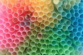 Straws Background In Rainbow Colors Stock Photo - 18882940