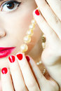 Woman Eye And Pearls Stock Images - 18884404