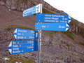 Sign In The Swiss Alps, Switzerland Royalty Free Stock Photography - 18887947