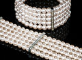 A Pearl Bracelet And A Necklace (close-up) Royalty Free Stock Image - 18888046
