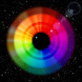 Starry Sky With Rainbow Iris And Pupil. Royalty Free Stock Photography - 18894427