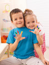 Two Kids In Their Room Playing Stock Photography - 18899802