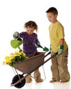 Young Spring Gardeners Stock Photo - 18913410