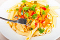 Vegetable Pasta Royalty Free Stock Photo - 18933375
