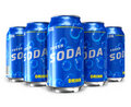Set Of Refreshing Soda Drinks In Metal Cans Royalty Free Stock Photo - 18944065