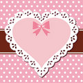 Lace Pink Heart Stock Photography - 18945812