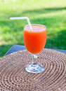 Juice In The Misted Over Glass Stock Photo - 18967670