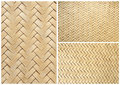Collection Of Texture Bamboo Basket For Background Royalty Free Stock Photo - 18973575