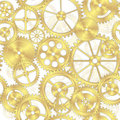 Seamless Brass Gear Background Royalty Free Stock Photography - 18973947