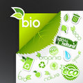 Set Of Green Ecology Icons. Royalty Free Stock Image - 18977586