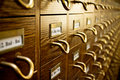 Old Library Card Catalog Royalty Free Stock Photography - 18985897
