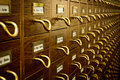Old Library Card Catalog Stock Images - 18985914