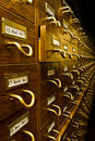 Old Library Card Catalog Royalty Free Stock Photography - 18985937