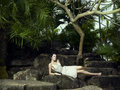 Young Brunette Beauty In A Tropical Forest Stock Photos - 18987663