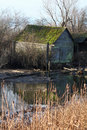 Moss Covered Shed, Edge Of Marsh Stock Image - 18995821