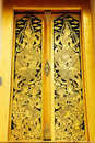 Thai Art Mural Door Royalty Free Stock Image - 19014576