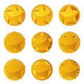Golden Stars With Copy Space Royalty Free Stock Image - 19018316
