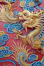 Chinese Dragon In Temple. Royalty Free Stock Photo - 19020195