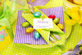Easter Table Decoration Royalty Free Stock Photos - 19035088