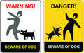 Danger! Beware Of Dog! Stock Photography - 19037142