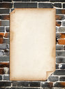 Old Paper On Old Brick Wall Stock Photography - 19043232