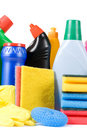 Assortment Of Means For Cleaning Isolated Stock Images - 19046234