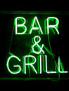 Bar And Grill Neon Sign Stock Photo - 19064770