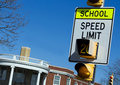 School Zone Speed Sign Royalty Free Stock Photos - 19065108