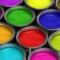 Colorful Paint Buckets Royalty Free Stock Photo - 19106675