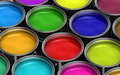 Colorful Paint Buckets Royalty Free Stock Photography - 19114897