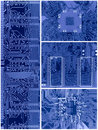 Set Of Blue Circuit Boards Stock Images - 19123014