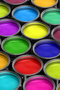 Colorful Paint Buckets Royalty Free Stock Images - 19129009