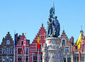 Statue, Market Place, Bruges Royalty Free Stock Photography - 19145457