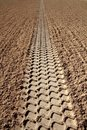 Beach Sand Tyres Footprint Perspective To Infinite Stock Images - 19164104