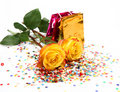 Yellow Roses And Package Royalty Free Stock Photography - 19174967