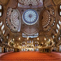 Interior Of The Sultanahmet Mosque In Istanbul Stock Photography - 19177432