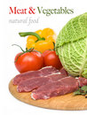 Raw Meat With Peppers Stock Image - 19190131