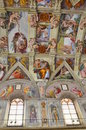 Sistine Chapel Ceiling Paintings Royalty Free Stock Photos - 19193698