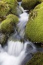 Waterfall Over Moss Covered Rocks Royalty Free Stock Image - 1920126