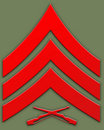 Red Sargent Insignia Royalty Free Stock Image - 1922166
